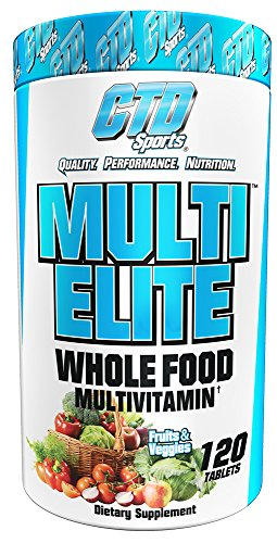 Whole Foods Multivitamin for Men and Women. Pure Natural Ingredients for Energy, Hair, Skin and Nails. Fruit and Vegetable Best Vitamin Supplement Sports Formula. Multi Elite 120 Tablets.