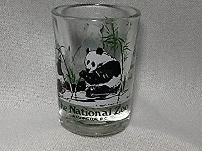 The National Zoo, Washington DC Souvenir Candle Holder, Panda Bears Glass Candle Holder