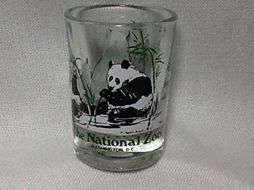 The National Zoo, Washington DC Souvenir Candle Holder, Panda Bears Glass Candle Holder