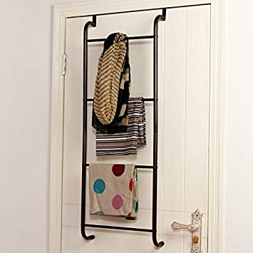 Detrás de la puerta de baño toalla de gancho de colgar la ropa de hierro clavos de la puerta sin puerta de baño Back: Amazon.es: Hogar