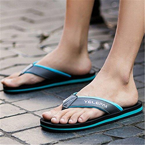 spiaggia Impermeabile antiscivolo Blu bagnato 24 cm in pelle Infradito 5 da Melodycp Sandali estive uomo uomoCasual da Sandalo uomo Scarpe da estivi da e 27 pqSBwOSz