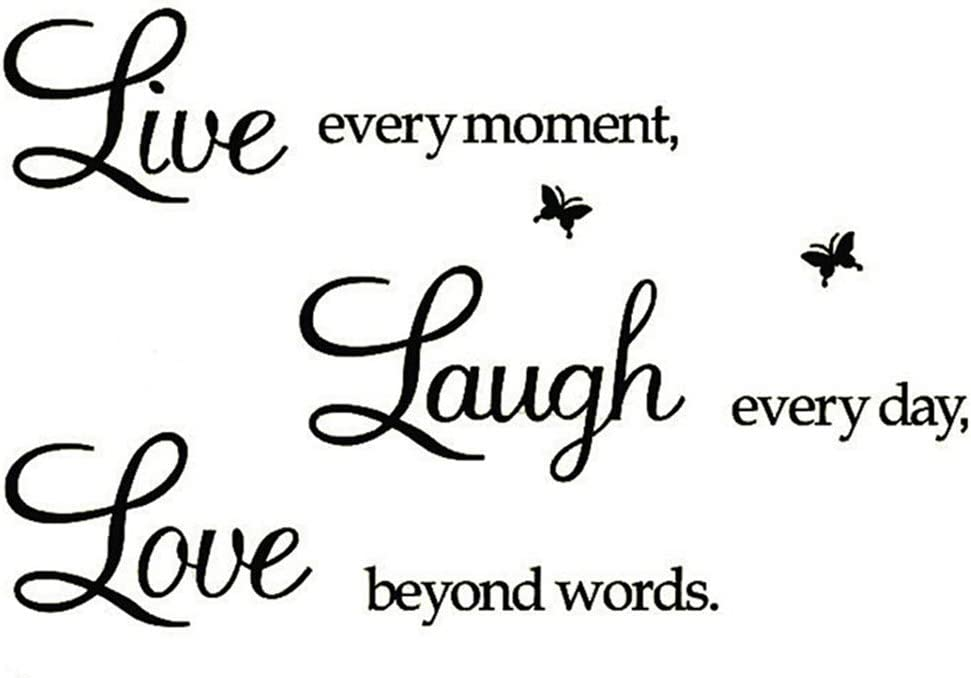 Rertcioph Live Every Moment,Laugh Every Day,Love Beyond Words,Wall Sticker Motivational Wall Decals,Family Inspirational Wall Stickers Quotes: Arts, Crafts & Sewing