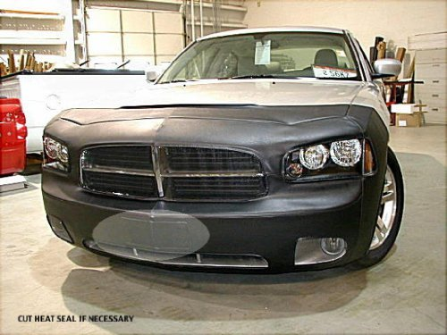 Lebra 2 piece Front End Cover Black - Car Mask Bra - Fits - DODGE,CHARGER,,w/o front spoiler, 2006 thru 2009