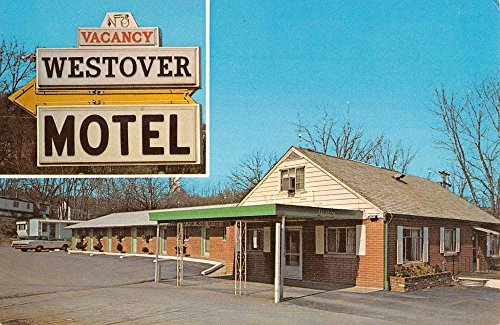 Morgantown West Virginia Westover Motel Street View Vintage Postcard - West Virginia Westover