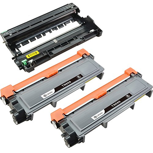 Sotek Replacements Brother TN660 Toner Kits & DR630 Drum Unit High Yield, Compatible With DCP-L2520DW MFC-L2720DW MFC-L2740DW HL-L2305W (2 Black Toners & 1 Drum Unit)