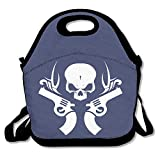 Skeleton Guns White LogoLunch Bag For Men Lunch Bag Lunch Box Food Bag Cool