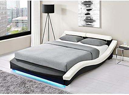 Générique Astra Cama Adulto con LED + somier contemporáneo en ...