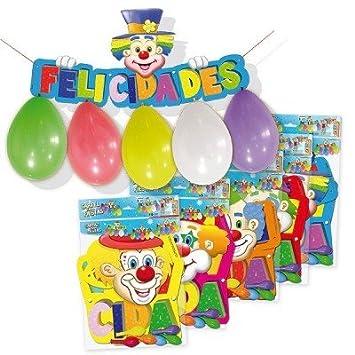 Globolandia - blister globos +cartel felicid: Amazon.es ...