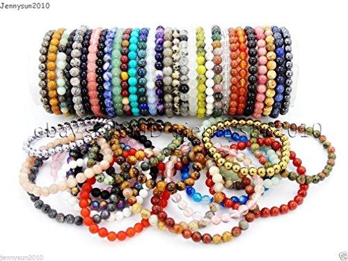 handmade-6mm-mixed-natural-gemstone-round-beads-stretchy-bracelet-healing-reiki-length-size-34pcs-be