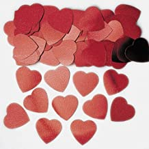 Jumbo Red Hearts Table Confetti Sprinkles 14g x 3