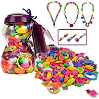 Happytime Snap Pop Beads Girls Toy 252 Pieces DIY Jewelry Kit Fashion Fun for Necklace Ring Bracelet Art Crafts Gifts...