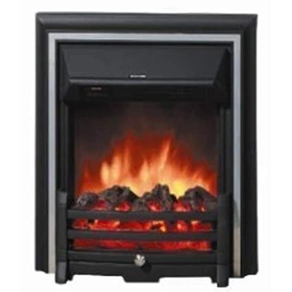 Heater LVZAIXI Simulación Abierta Chimenea de Fuego Estilo Ultrafino Control Remoto calefacción Chimenea núcleo Estufa Estufa