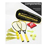 DNDmall Ratesminton Squash Starter Set ( Sports Outdoor RACQUETBALL TENNIS SQUASH BADMINTON This Equipment allows you to Exercise alone or with your Friend Sports Training Equipment)