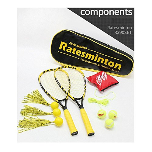 DNDmall Ratesminton Squash Starter Set ( Sports Outdoor RACQUETBALL TENNIS SQUASH BADMINTON This Equipment allows you to Exercise alone or with your Friend Sports Training Equipment) by DNDmall