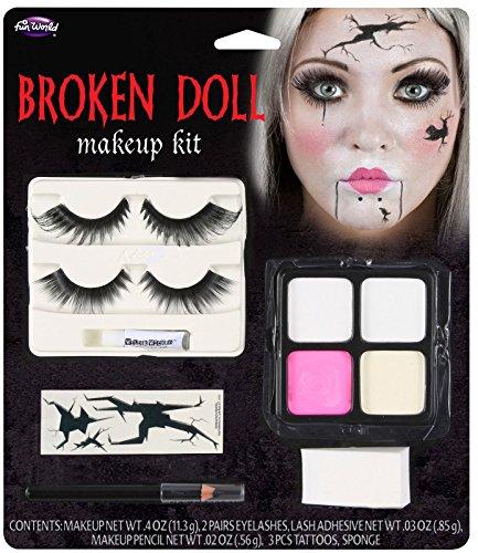 Broken Doll Makeup Kit Halloween Face Paint Fancy Dress