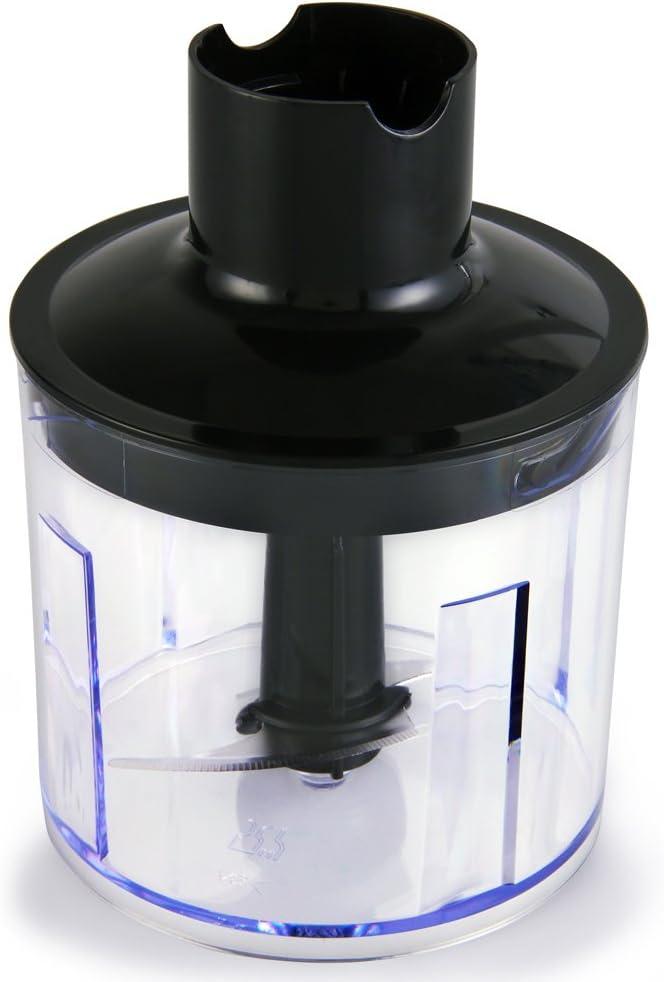 Monzana brazo de batidora picadora häcksler Set Acero Inoxidable Plástico Mix Varilla Batidor 805 W 402 W plata: Amazon.es: Hogar
