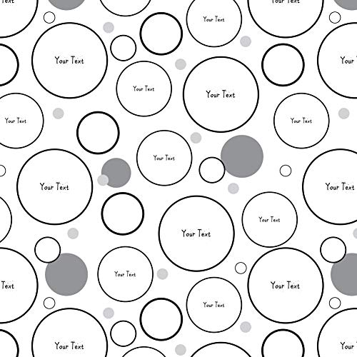 GRAPHICS & MORE Personalized Custom White Any Occasion 1 Line Sprinkle Font Premium Gift Wrap Wrapping Paper Roll