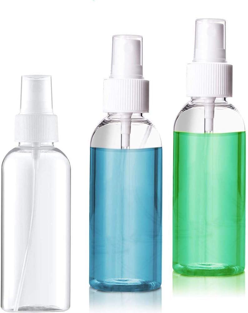 3 Piezas 50ml Botella de Spray Pancartas Botella de Spray de Niebla Fina Vacía Atomizador de Viaje Pequeño Plastico Niebla Atomizadores de Perfume Botellas para Maquillaje agua Alcohol