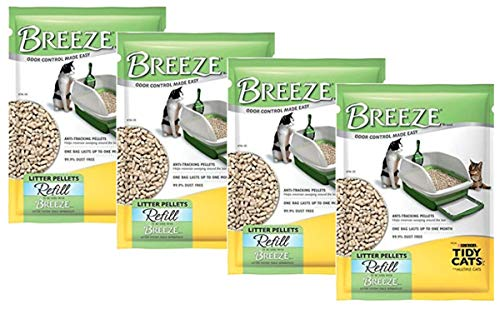 Purina Tidy Cats BREEZE Cat Litter Pellets Refill for Multiple Cats 3.5 lb. Pouch (3.5 lb. - Pack of 4)