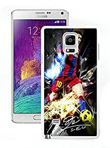Perfect fit for your beloved phone,100% Brand New Soccer Player Lionel Messi 07 White For Samsung Note 4 Case