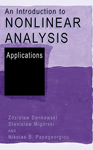 An Introduction to Nonlinear Analysis: Applications