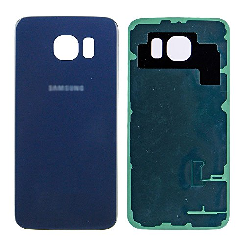 LUVSS New Back Glass Replacement for Samsung Galaxy S6 G920 (All Carriers) Rear Cover Glass Panel Battery Door Housing with Adhesive Preinstalled Repair Part (Blue)