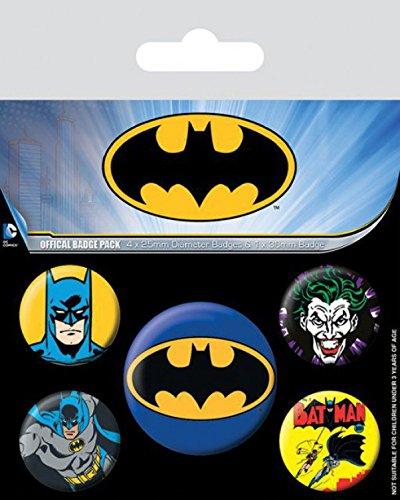 Badges 38mm Sticker Surprise Paquet Cm De 4 amp; 1 25mm Set 1x 15x10 Batman X 1art1® Joker SHfpHz