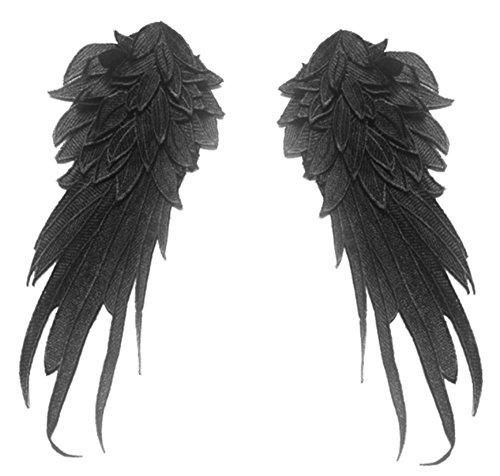 Ancefine Women Sew on Angel Wing Neckline Lace Trim Applique (Large, (Sew Pillow Trim)