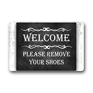 Funny quotes welcome please remove your shoes series 3 custom machine washable - Remove shoes doormat ...