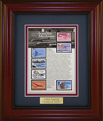 Aviation Mechanic - Unique Framed Collectible (A Great Gift Idea) with Personalized Engraved Plate -