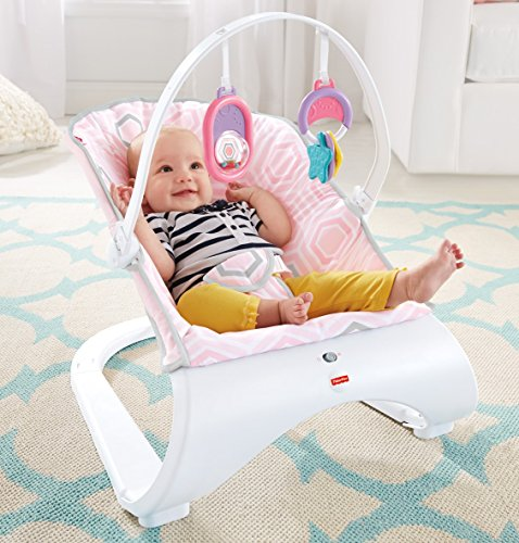 Rezultat iskanja slik za Fisher-Price Pink Saturn Snuggle Comfort Curve Bouncer