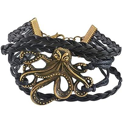ZUOZUO Leather Wristband Punk Metal Cone Nail Studs Rivet Leather Bracelet Bracelet Cuff Bracelet Cool Men S And Women S Multilayer Bracelet Estimated Price £16.99 -