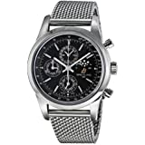 Breitling Men's 43mm Steel Bracelet & Case Automatic Black Dial Chronograph Watch A1931012-BB68
