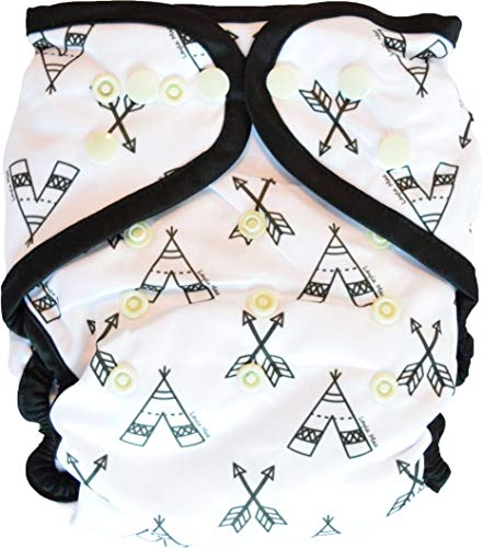 Layla Mae All in One Cloth Diapers One Size Adjustable AIO (TeePee)