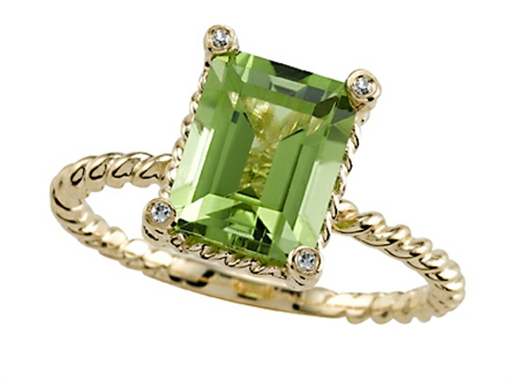 Genuine Peridot Ring by Effy Collection 14kt Size 5.5