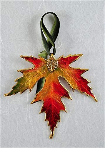 amazon com silver maple leaf ornament gold trimmed in fall multi colors real leaf ornaments silver maple ornament jewelry amazon com