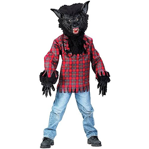 (Childs Werewolf Costume - Super Deluxe BLK with Bracelet for Mom (LG 12-14 with Bracelet for)