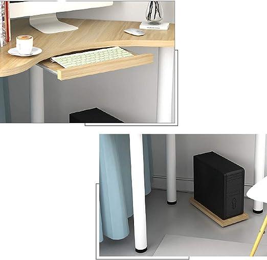 Mesa de Esquina para Ordenador con triángulo de Esquina, Mesa pequeña para Ordenador portátil, Escritorio Curvado para el hogar: Amazon.es: Juguetes y juegos