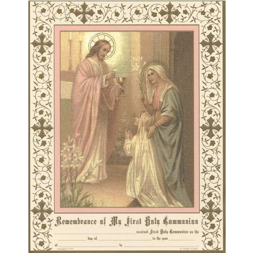 Daughters of Mary Press First Holy Communion Certificates for Girls