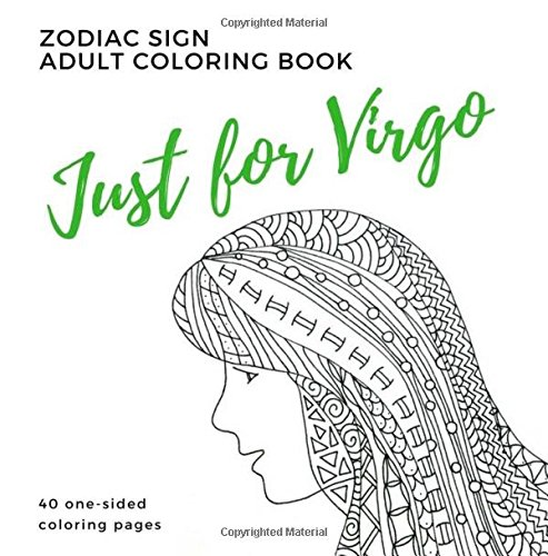 Just Virgo Zodiac Adult Coloring