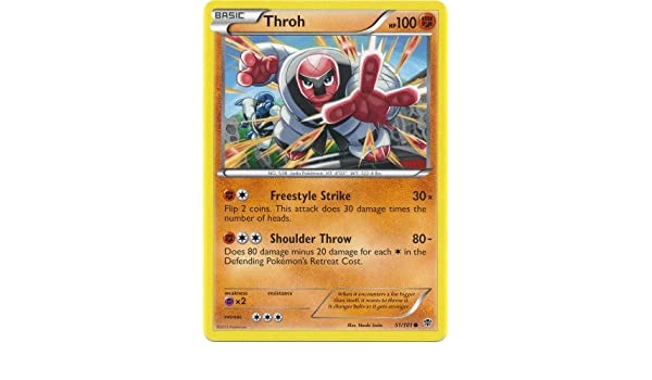 Amazon.com: Pokemon - Throh (51) - Plasma Blast: Toys & Games