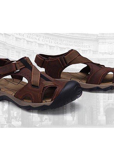 ShangYi Herren Sandaletten Herrenschuhe-Outddor / Büro / Lässig / Sportlich / Arbeit / Kleid-Sandalen-Nappa Leather-Braun Brown