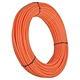 SharkBite Oxygen Barrier PEX Pipe 3/8 Inch, Orange Heat Radiant Barrier Tubing, U855O100, 100 Foot Coil