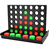 COUOMOXA 4 in a Row Four in a Row Game Classic Family Game Line Up 4 Classic Board Game Puzzle Travel Game Easy to Set up ,Play ,Storage for Kids ,Adults ,Family Fun