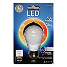 GE Lighting 23708 LED 4.5-watt 350-Lumen Dimmable A15 Ceiling Fan Bulb with Medium Base, Daylight Frosted, 1-Pack