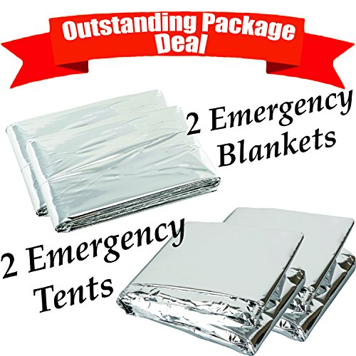 Emergency Survival Shelter 2 Tents with 2 Blankets Two Person All Weather Tube Tent by bogo Brands  sc 1 st  Hiking Gear Store & Emergency Survival Shelter 2 Tents with 2 Blankets Two Person All ...