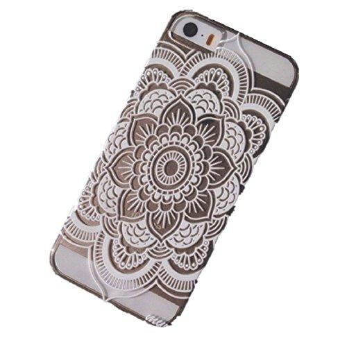 Ukamshop für iPhone 5C süß Henna Mandala blume Traumfänger Tasche case cover