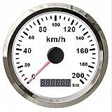 Autool GPS Speedmeter Stainless Waterproof Gauge 200KMH For Car Truck Vans 12/24V