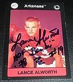 Lance Alworth Signed Arkansas Razorbacks Football Card COA Gem Mint 10 - PSA/DNA Certified - NFL Autographed Football Cards