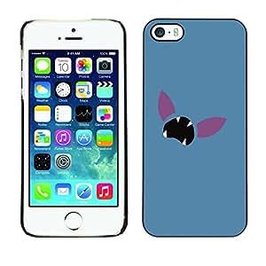 Caucho caso de Shell duro de la cubierta de accesorios de protección BY RAYDREAMMM - iPhone 5 / 5S - Minimalista empuje Cara